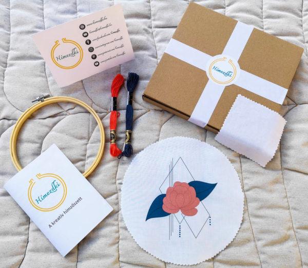 kreatív hímzőszett dobozban